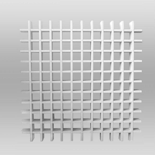 Подвесной потолок типа грильято - белый матовый 50 х 50 h=50 мм
