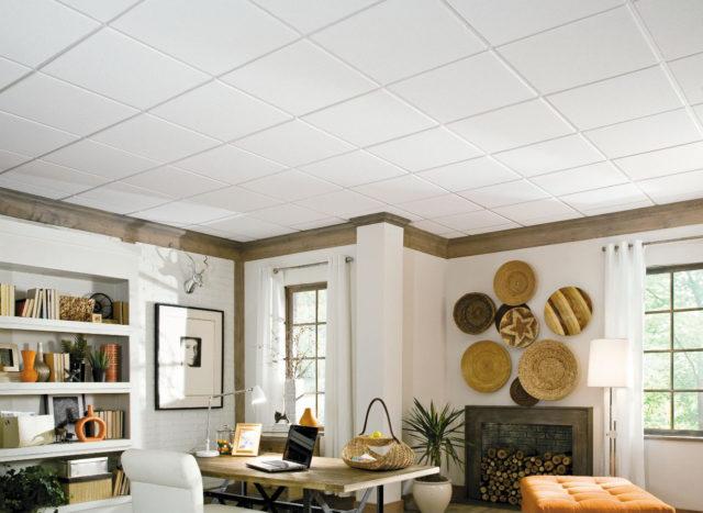 Модульный потолок в интерьере
