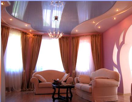 Навесные потолки для зала — фото поверхности для дизайна ...