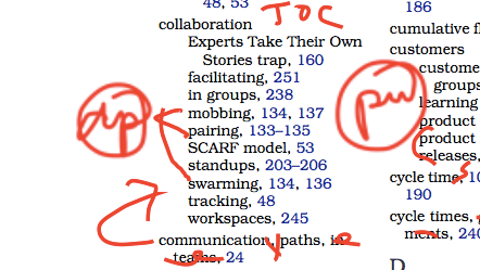 index example with stamps for gathering or picking up annotations