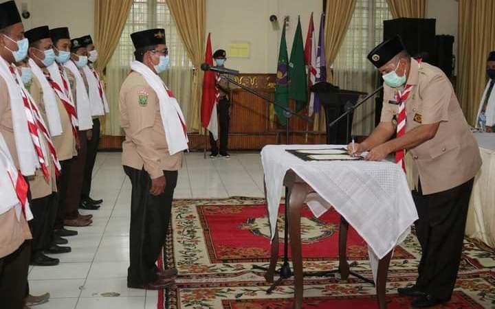 Bupati Siak Alfedri Lantik Pengurus SAKO Pramuka Ma'arif NU Pertama di Kwarcab 09 Siak