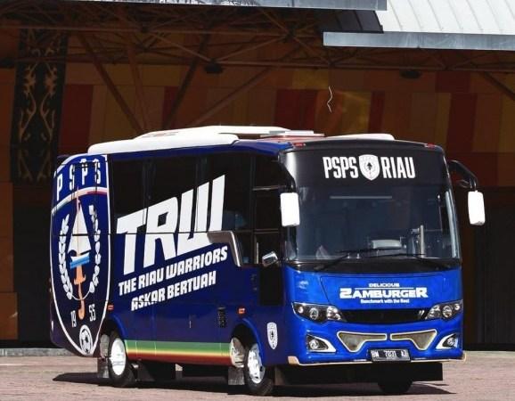 Tak Hanya Tuntaskan Gaji Pemain, PSPS Riau Beli Bus Baru
