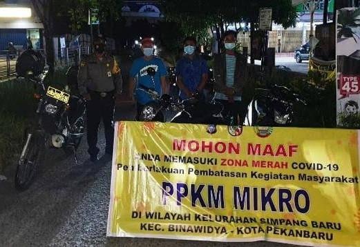 PPKM Mikro Pekanbaru Diperpanjang, Polisi Optimalkan Penyekatan Jalan
