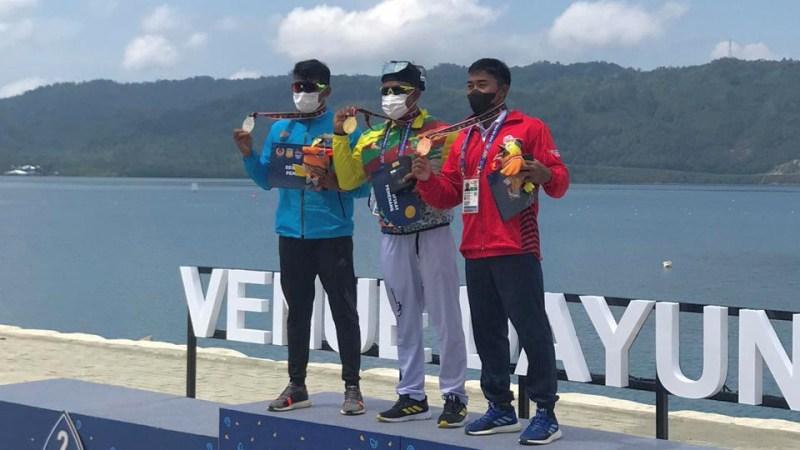 Atlet Dayung Riau Maizir Riyondra Sumbang Emas di PON XX Papua
