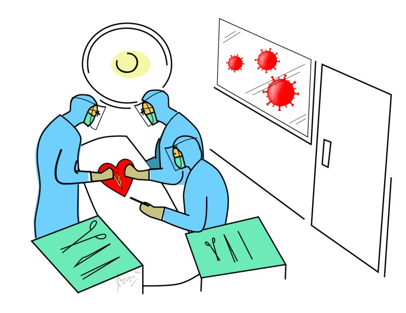 Heart Surgery Covid Illustration