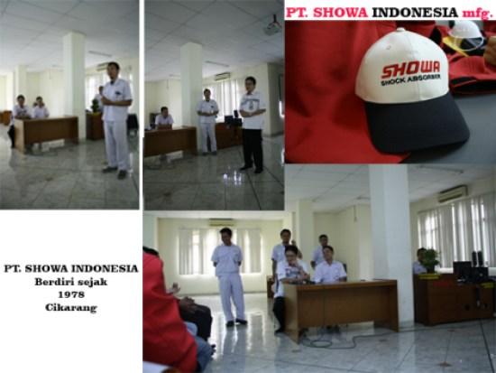 Sambutan para petinggi PT. SHOWA INDONESIA, sebelum tour kedalam area produksi.