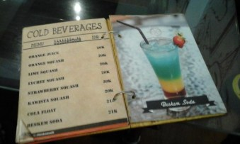 Daftar menunya