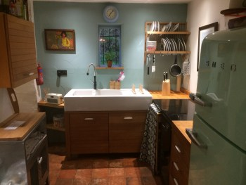 Kitchen at Pots and Pans Holiday Cottage, Uppermill, Saddleworth