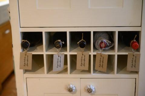 Honesty wine rack