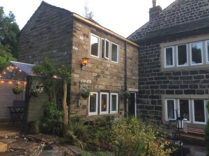 Outside of Pots and Pans Holiday Cottage, Uppermill, Saddleworth