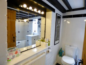 Main bathroom at Pots and Pans Holiday Cottage, Uppermill, Saddleworth