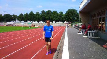 Marco kurz vor dem Start.