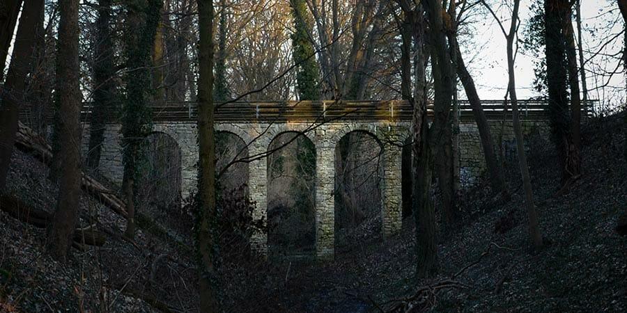 Teufelsgrabenbrücke - Viadukt in Potsdam