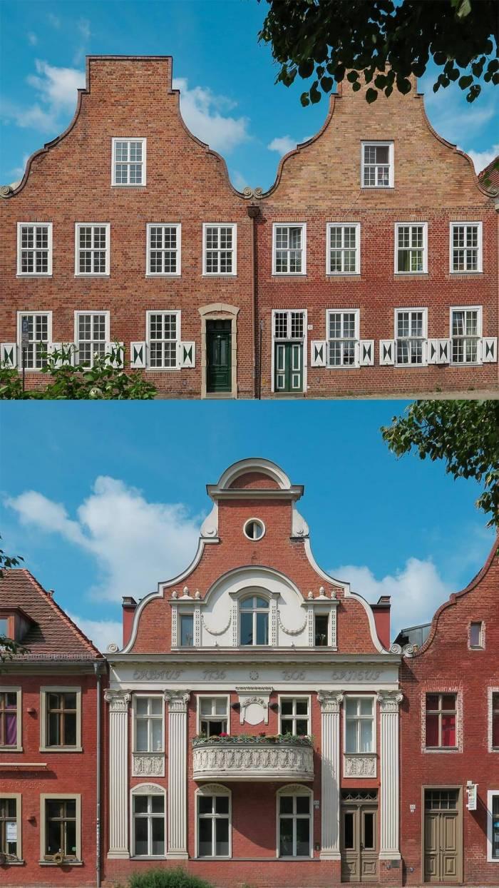Haustypen im Holländischen Viertel