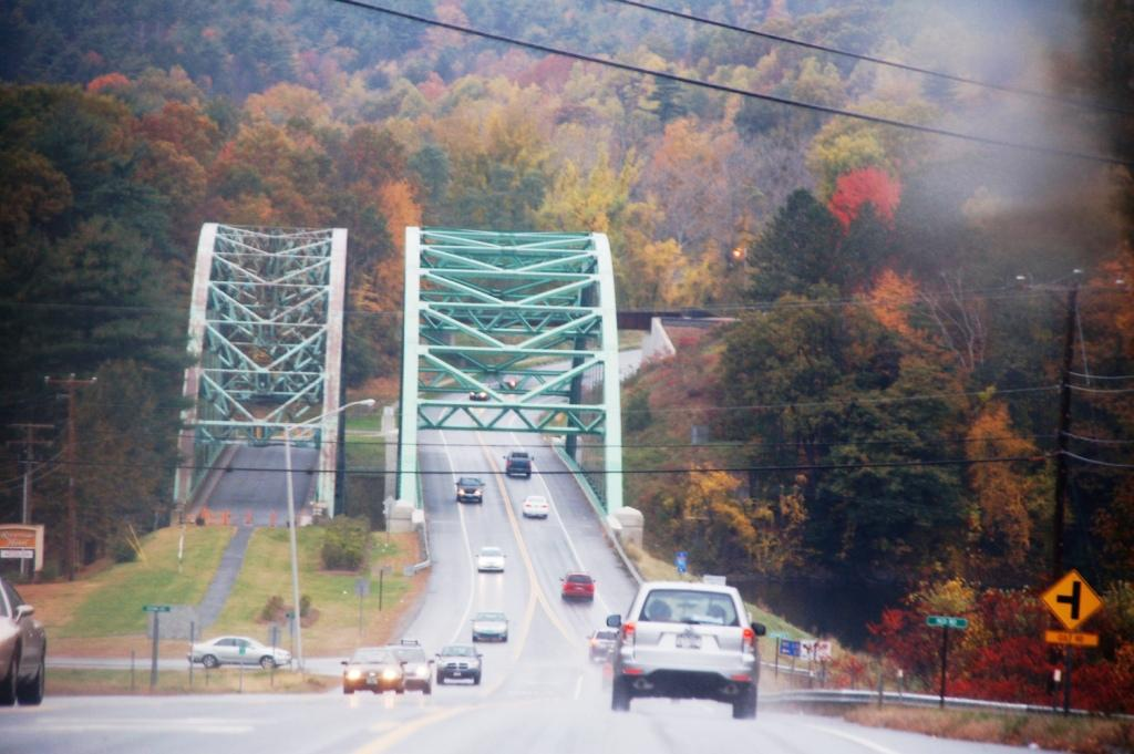 Upon entering both Maine and Vermont from New Hampshire, I crossed these large bridges. I liked them, and it made me realize how much water there was. Water does not divide states around here!