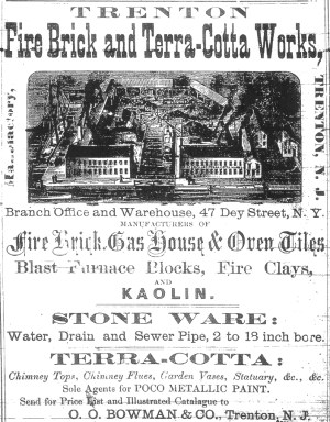 Trenton Fire Brick and Terra-Cotta Works Advertisement