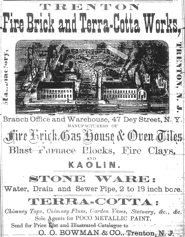 Trenton Fire Brick and Terra-Cotta Works Advertisement