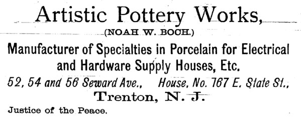 Artistic Pottery Works Advertisement