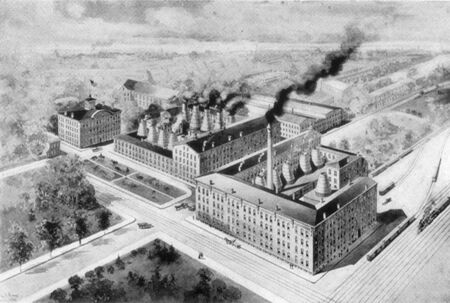 Print of 1909 Maddock Potteries from above