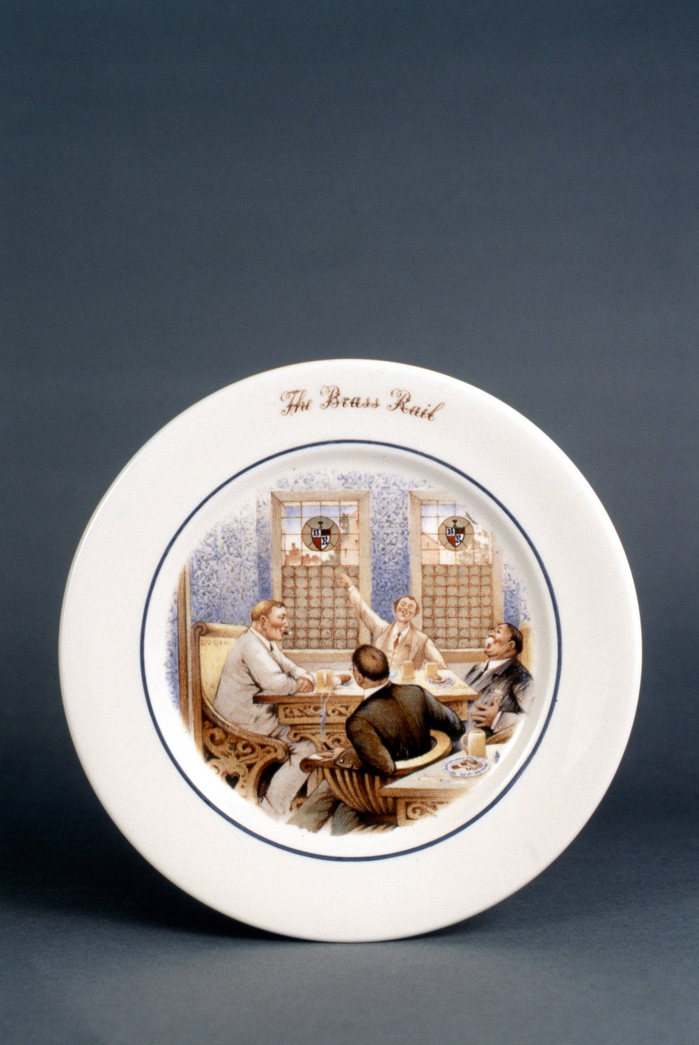 Scammell, restaurant china, service plate for The Brass Rail restaurant