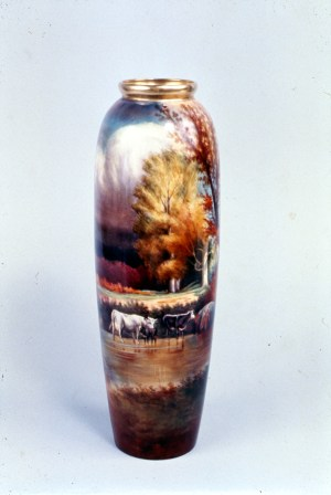 Willets Mfg Co Vase decorated by Pickard, Chicago, about 1910, NJSM 71.28