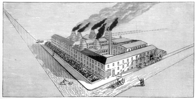 Maddock factory 1859 black and white sketch
