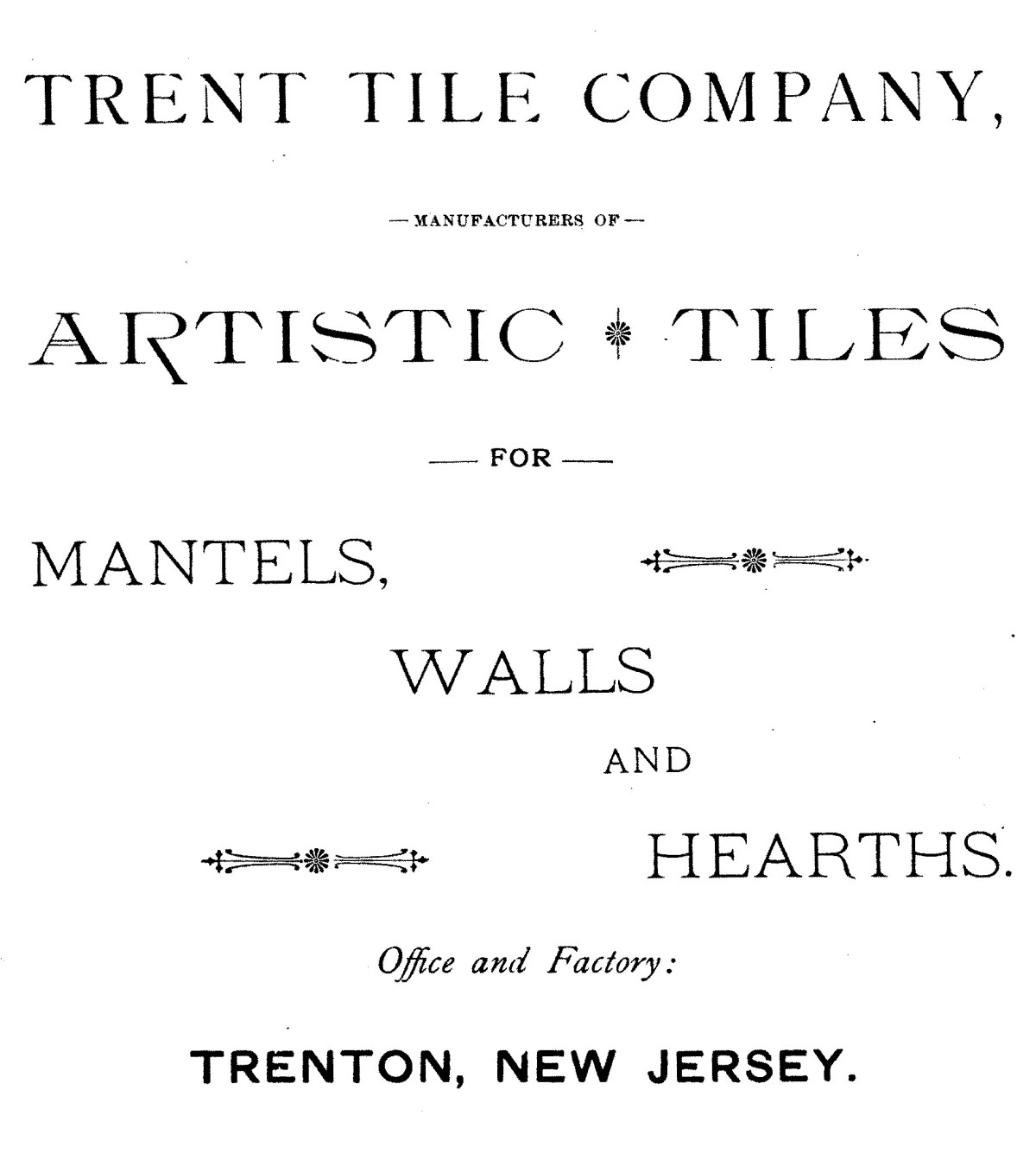 Trent Tile Company Advertisement