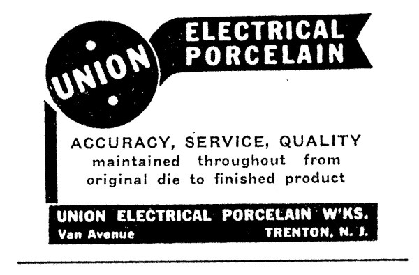 Union Electrical Porcelain Works Advertisement