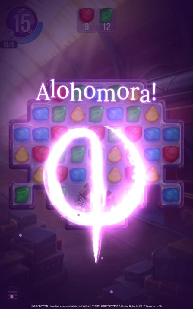 Ukázka ze hry Harry Potter: Puzzles and Spells - kouzlo Alohomora.