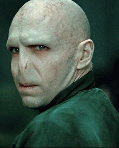 Fotografie s obličejem Lorda Voldemorta.