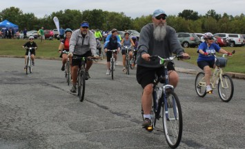 People of all ages participate in the first Ride for the River which began from Circle of Progress Drive in Pottstown on Saturday morning.