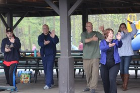 People participate in a tai chi demonstration during EarthFest at the Boyertown Community Park on Saturday, April 22, 2017. Michilea Patterson — Digital First Media