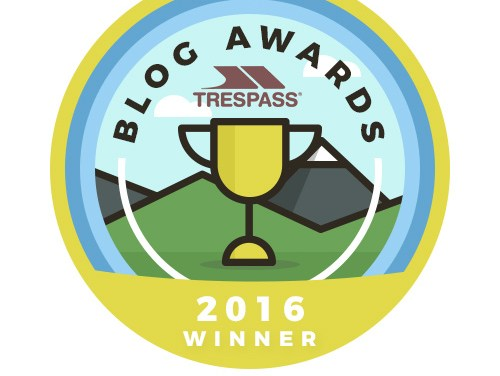 Trespass Outdoor Blog Awards – We Won!