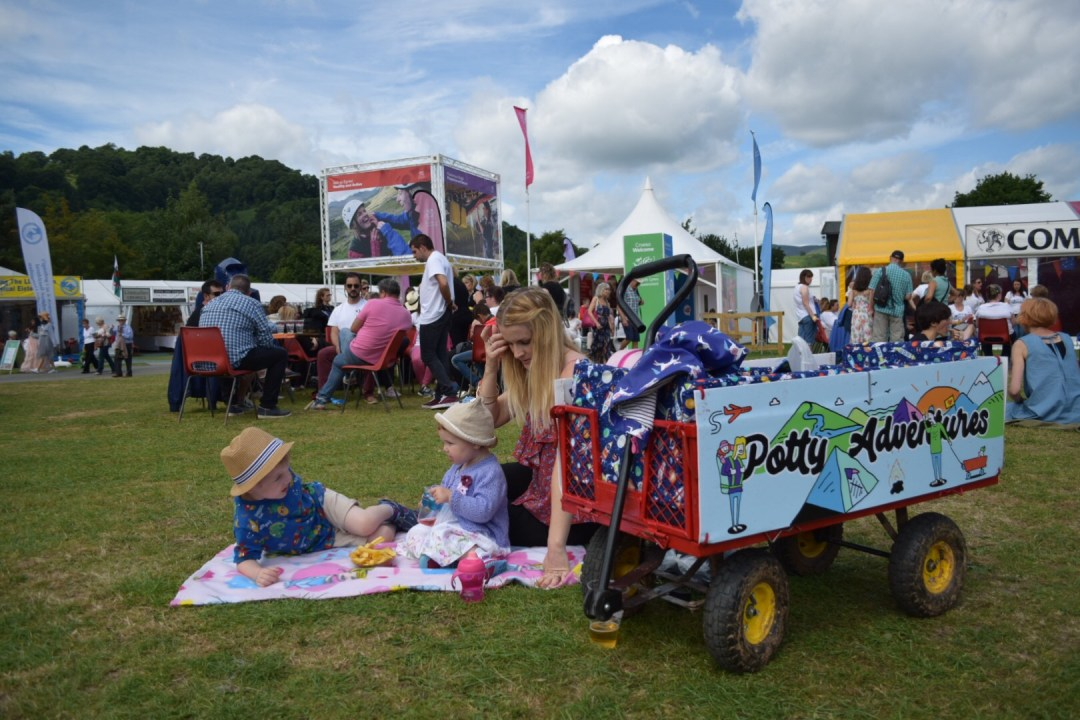 Our festival wagon at the Llangollen Eisteddfod