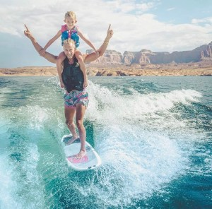 Kids wakeboarding