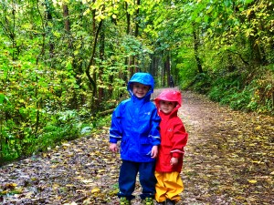 Spotty Otter kid's waterproofs
