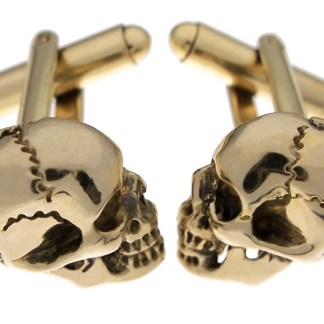 Skull Cufflinks in Brass