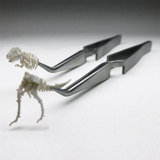 Cross lock stainless steel tweezers are like a third hand for building Tinysaur models
