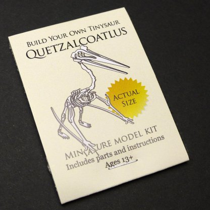 Quetzalcoatlus miniature skeleton model package by Tinysaur.us