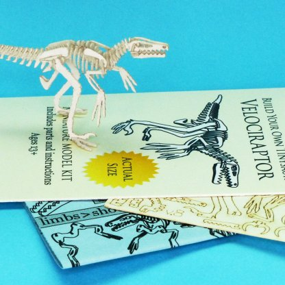White Velociraptor with instructions and laser cut parts