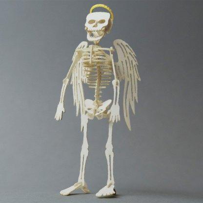 Assembled Angel bare bones miniature skeleton Tinysaur model
