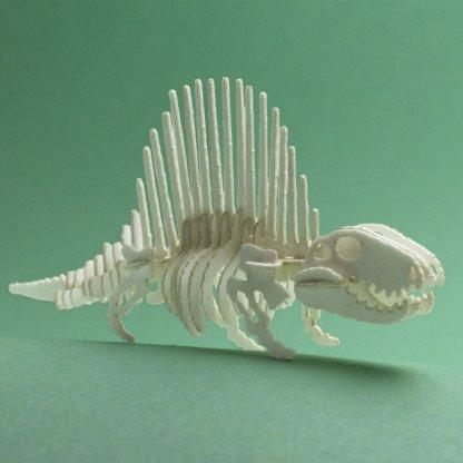 Assembled Dimetrodon miniature skeleton model by Tinysaur.us