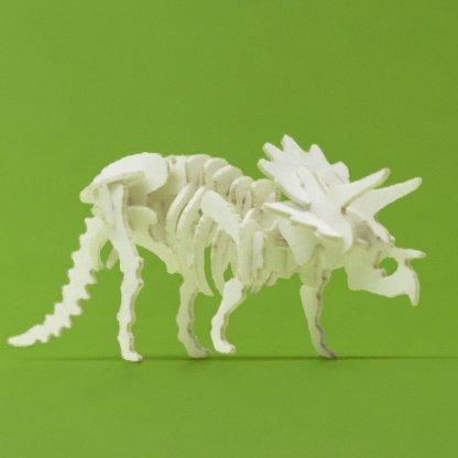 Assembled Triceratops mini skeleton model by Tinysaur.us