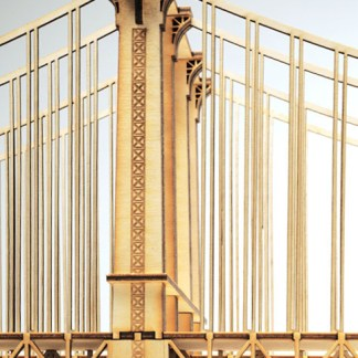 Manhattan Bridge suspenders model