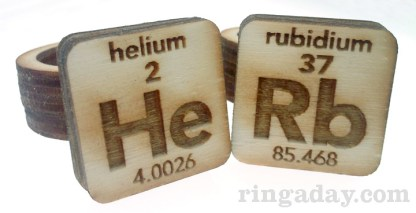 Laser Engraved Periodic Rings