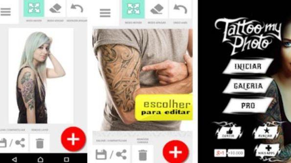 Aplicativo Tatto my photo para simular tatuagem
