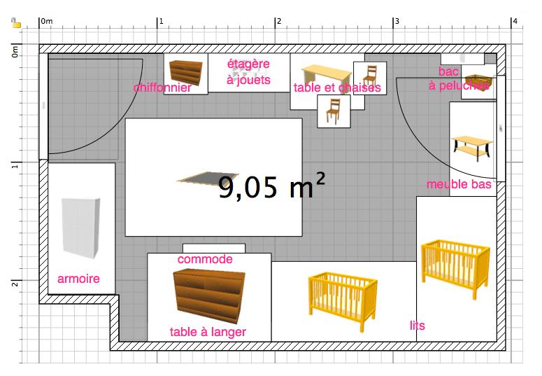 Amnager Une Chambre De 9m2 Pour Deux Bbs Maman Pouce