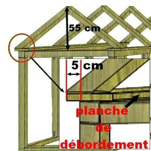 Plan de montage de la toiture du poulailler