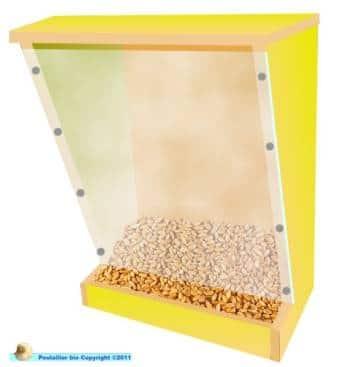 Distributeur de grains en trémie pour poule
