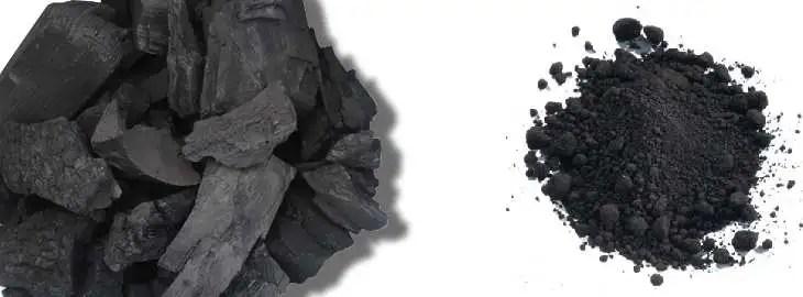 Charbon de bois et poudre de charbon de bois